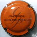 Champagne capsule 2.a Orange, contour noir