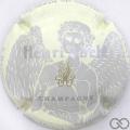 Champagne capsule 42.h Fond crème jaune