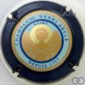 Champagne capsule 41.a Contour bleu-noir, fond bleu pastel