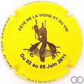 Champagne capsule 2.ea Jaune et marron