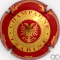 Champagne capsule 2.a Rouge et or brillant, verso rouge