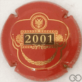 Champagne capsule A3.e 2001, rouge et or