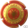 Champagne capsule 2.b Rouge et or, verso rouge sans cercles
