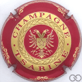 Champagne capsule 3 Rouge foncé et or