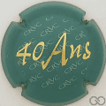 Champagne capsule 15.a 40 ans, vert et or