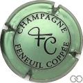 Champagne capsule 11.c Vert pâle métallisé et noir