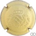 Champagne capsule  Estampée, or pâle terne
