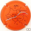 Champagne capsule 23.e Fond orange, APC