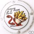 Champagne capsule 46 20 ans Friterie de la Rouge Porte, en relief