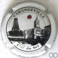Champagne capsule 33.a Blanc, avec strass rouge