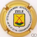 Champagne capsule 42.b Cuvée Zele, contour or