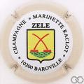 Champagne capsule 42.e Cuvée Zele, contour crème