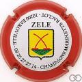 Champagne capsule 42.a Cuvée Zele, contour rouge