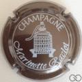 Champagne capsule 4.c Marron métallisé et blanc