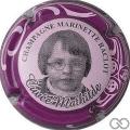 Champagne capsule 45.c Mathilde, contour violet, sans bonnet