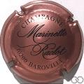 Champagne capsule 18 Rosé et noir (marron)
