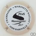 Champagne capsule 48.g Noir, contour crème