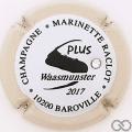 Champagne capsule 48.h Blanc et noir, contour crème avec strass