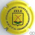 Champagne capsule 42.c Cuvée Zele, fond jaune