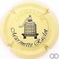 Champagne capsule 39 Crème pâle, noir et or