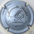 Champagne capsule 12 Gris-bleuté métallisé et noir