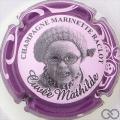 Champagne capsule 45.b Mathilde, contour violet, avec bonnet