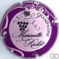 Champagne capsule 41.b Rose, contour sparflex violet, dessin noir