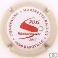 Champagne capsule 48.i Rouge, contour crème, avec strass