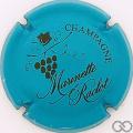 Champagne capsule 41.d Bleu turquoise et marron