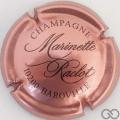 Champagne capsule 19 Rosé foncé et noir (marron)
