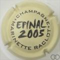 Champagne capsule 31 Crème et noir