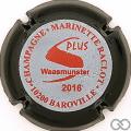 Champagne capsule 48.d Rouge, contour noir