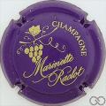 Champagne capsule 41.e Violet foncé et or
