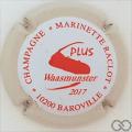 Champagne capsule 48.f Rouge, contour crème