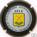 Champagne capsule 42.d Cuvée Zele, contour noir