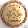Champagne capsule 7.c Crème et bordeaux, striée