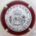 Champagne capsule 14.c Contour bordeaux, fond blanc