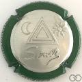 Champagne capsule 36 Estampée contour vert