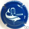 Champagne capsule H4401 Bleu soutenu écriture blanc