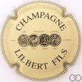 Champagne capsule 17 Crème et noir, striée