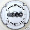 Champagne capsule 16 Blanc et noir, striée