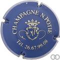 Champagne capsule 1 Bleu et or, tél. 8 chiffres
