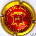 Champagne capsule  Rouge contour or, métallisé