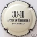 Champagne capsule 16.c Crème, contour noir