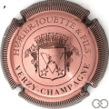 Champagne capsule 5 Rosé et noir, striée