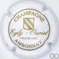 Champagne capsule 8 Blanc et or