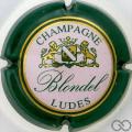 Champagne capsule 11.a Contour vert, centre blanc rosé