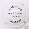 Champagne capsule H7205 Opalis blanc et noir
