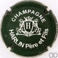 Champagne capsule 5 Vert-noir et métal, verso or