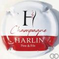 Champagne capsule 7 Blanc, barre rouge